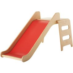 IKEA VIRRE Slide with ladder and guard rail, red, beech