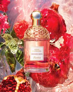 Aqua Allegoria is a collection of fresh fragrances paying homage to nature's stunning raw materials. Joyful by nature. Granada, Salvia, Aqua, Parfum Gaultier, Parfum Guerlain, Bb Beauty, Perfume Packaging, Honey Packaging, Chanel Perfume