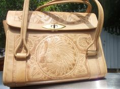 Leather Ethnic Hand Made Design Handbag by itscountrycharm on Etsy