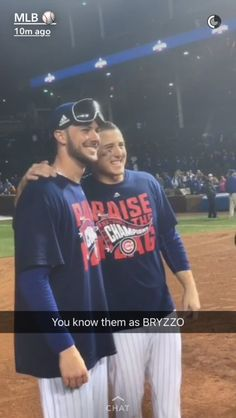 Bryzzo ♥ Chicago Cubs Fans, Chicago Cubs Baseball, Baseball Boys, Cubs Players, Cubs Team, Scandal Of Grace, Cubs Win, Go Cubs Go, Sports Photos