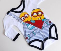 Minions  Baby Body  Langarmbody für Junge Gr. 56 62 68 /BBj2/