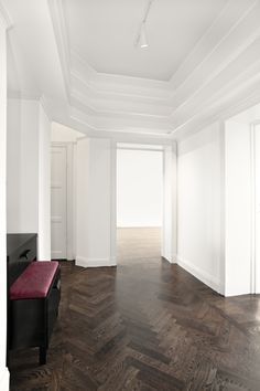 Private residence in Stockholm Timber Flooring, Parquet Flooring, Kitchen Flooring, Hardwood Floors, Beautiful Home Designs, Beautiful Interiors, Basement Renovations, Home Remodeling, Floor Design