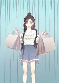 Anime Girl Pink, Pretty Anime Girl, Beautiful Anime Girl, Manga Girl, Anime Art Girl, Hot Anime Couples, Anime Korea, Cute Girl Drawing, Anime Eyes