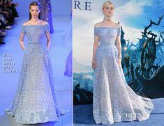Elle Fanning In Elie Saab Couture – 'Maleficent' World Premiere
