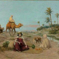 وقوف القافلة Halte de la Caravane José Alsina ،Peintre Espagnol (1850_1925) #algerie #algeria #art #art🎨 #artwork #artofinstagram #paint #painting #oilpainting #الجزائر #الجزائر_المحمية_بالله #لوحات_فنية_جزائرية #لوحات_فنية#peinturedalgerie