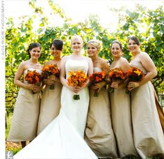 Orange And Champagne Wedding Colors Bing Images