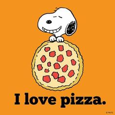 Snoopy I love pizza
