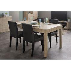 Table Rectangulaire Warren 160 cm Chêne (0191TARE) : achat / vente Table à manger sur maginea.com 144.95€