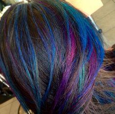 Something different. Galaxy peek-a-boos! Purple! Pink! Purple! Aqua!