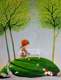View Iwona Lifsches's Artwork on Saatchi Art. Find art for sale at great prices from artists including Paintings, Photography, Sculpture, and Prints by Top Emerging Artists like Iwona Lifsches. Arte Dachshund, Easter Art, Easter 2013, Paperclay, Original Art For Sale, Naive Art, Whimsical Art, Cute Illustration, Cute Art