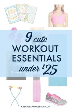 You don`t need expensive supplies to exercise! This list features all of my favorite {and cute} workout essentials, and the best part is, they all come in under $25 -- some even cost much less! Fitness Diet, Fitness Motivation, Health Fitness, Fitness Supplies, Back Pain Remedies, Best Water Bottle, Workout Essentials, Workout Accessories, Workout Rooms