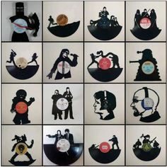 Vinyl Record Clock by on Etsy Vinyl Record Crafts, Vinyl Record Clock, Vinyl Art, Vinyl Projects, Diy Craft Projects, Records Diy, I Spy Diy, Arte Robot, Diy Butterfly