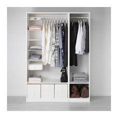 PAX Garderob, vit vit 150x58x201 cm