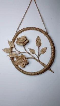 Diy Crafts For Home Decor, Diy Crafts For Gifts, Plastic Spoon Crafts, Jute Flowers, Paper Flower Decor, Burlap Projects, Diy Tassel, Burlap Crafts, Diy Headband