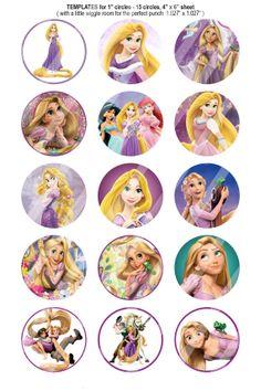 151 Digital Bottle Cap Images Disney Princess by BeautifulDigitals, $1.25