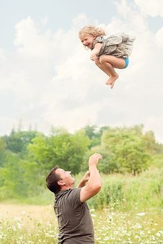 Trust image Dad and Daughter Throwing No matter how far I fall, I'll always trust my daddy to catch me