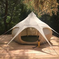 The new Air Beam Bud, the first ever inflatable glamping tent! 10 x 10 foot in diameter Weighs just 40 lbs Big enough to fit a queen size bed No centre pole so you can use 100% of the space inside No more broken poles and super fast to assemble!