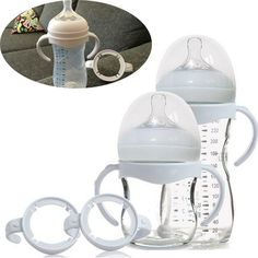 Bottle Grip Handle for Avent Natural Wide Mouth PP Glass Feeding Baby Bottle Accessories 1pc free shipping
