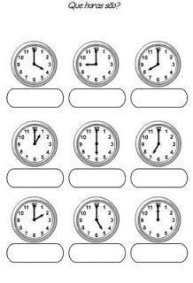 Banco de Atividades: Matemática- relógios para completar as horas
