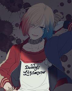 Típico vas caminando en la calle y ves a Yurio disfrazado de Harley Quinn                                                                                                                                                                                 Más