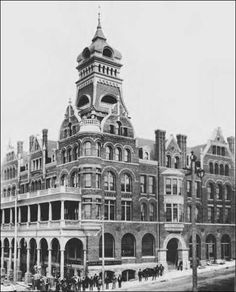 Fairhaven Hotel c.1892. Was very short lived and later became the city's welfare services office but not before Mark Twain stayed as a guest on a lecture tour!