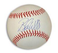 Autographed Brandon Webb MLB Baseball