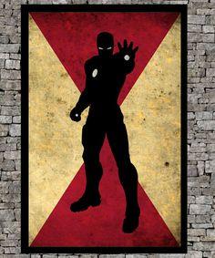 Ironman - Avengers art  illustration super hero giclee print - Retro paper page - Vintage marvel art print movie poster