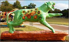 "Tigers Around Town, University of Memphis - 1924 ""Sunflower Tiger"" by Bettye Brookfield"