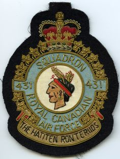 RCAF CAF Canadian 406 Squadron Heraldic Colour Crest Patch