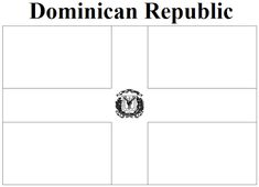 dominican republic flag coloring page  Google Search  teaching