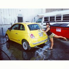 #carwash & #fun ! Good morning from #Fiat