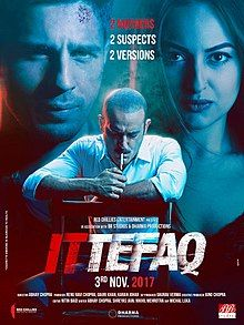 """Ittefaq Official Poster """"Ittefaq"""" is an Indian mystery-thriller film. This movie was directed by Abhay Chopra and produced by . Movies To Watch Online, Movies To Watch Free, Good Movies, Movies Free, Movies 2017 Download, Free Movie Downloads, Latest Bollywood Movies, Bollywood Cinema, Bollywood News"""