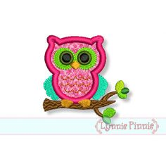 SMALL OWL on a Branch Applique 4x4 Machine Embroidery Design  Doll  INSTANT Download on Etsy, $2.25
