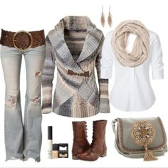 Absolutely love this cardigan.  What a great outfit.