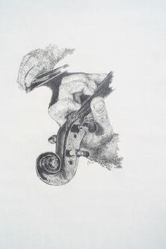"""""""Violin"""" Violin Drawing, Violin Art, Drawing Sketches, Pencil Drawings, Art Drawings, Sketching, Music Painting, Sketch Inspiration, Mandala"""