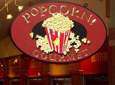 Popcorn Gourmet Retail Sign | Danthonia Designs