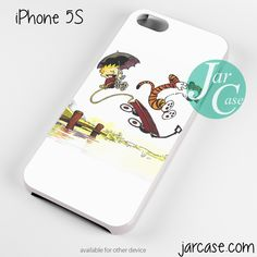Calvin and Hobbes Playing Together Phone case for iPhone 4/4s/5/5c/5s/6/6 plus