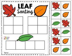 Fall Preschool Activities, Thanksgiving Activities, Toddler Activities, Fall Crafts For Preschoolers, Kindergarten Sorting Activities, Kindergarten Science, Fun Worksheets, Teaching Ideas, Classroom