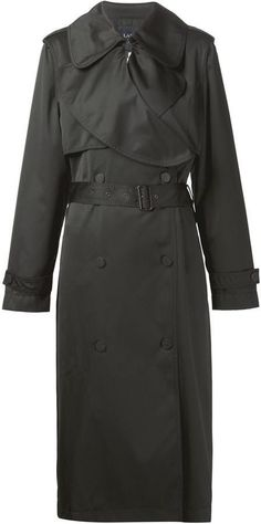 $2,585, Black Trenchcoat: Lanvin Classic Trench Coat. Sold by farfetch.com. Click for more info: https://lookastic.com/women/shop_items/307191/redirect