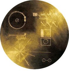 The Voyager Spacecraft's Golden Record containing music (Bach, Stravinsky, Chuck Berry), images (the planets of the solar system, the wonders of earth, human beings) and even a star map, locating our exact position in the galaxy. Carl Sagan headed up this most extraordinary achievement of human kind.