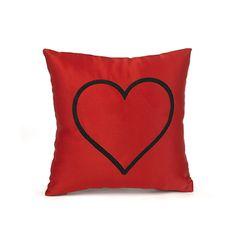 Red Heart Mini Throw Pillow #HortenseBHewitt #pillow #heart #red