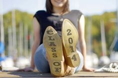 """Senior pictures - write """"Class of 2014"""" on the bottom of cowboy/cowgirl boots!"""