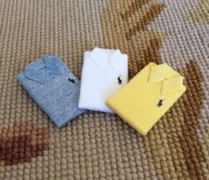Shirt Polo 1:12 Dollhouse Miniature