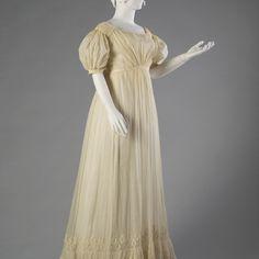 Cotton gauze dress, ca. 1815-20, KSUM 1983.1.32
