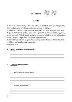 Olvasóka 1-2. évfolyam számára Dyslexia, Bible