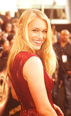 leven rambin aka glimmer from the hunger games AND  clarisse from Percy Jackson: sea of monsters!