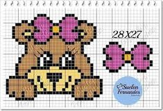 ponto cruz bebe - Pesquisa Google Cross Stitch Embroidery, Cross Stitch Patterns, Pixel Crochet Blanket, Motifs Animal, Cross Stitch Animals, Sweater Knitting Patterns, Crochet For Kids, Pixel Art, Baby Animals