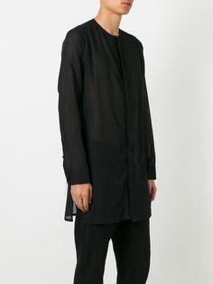 Cedric Jacquemyn collarless side slit shirt