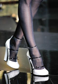 Louis Vuitton. without the tights of course. these would look adorable under your gown ;)