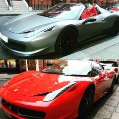 #ferrari grey or red